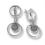 Сребърни обици с Камък 138446-Oбици