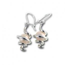 Сребрна обица с перла 115817-Oбици