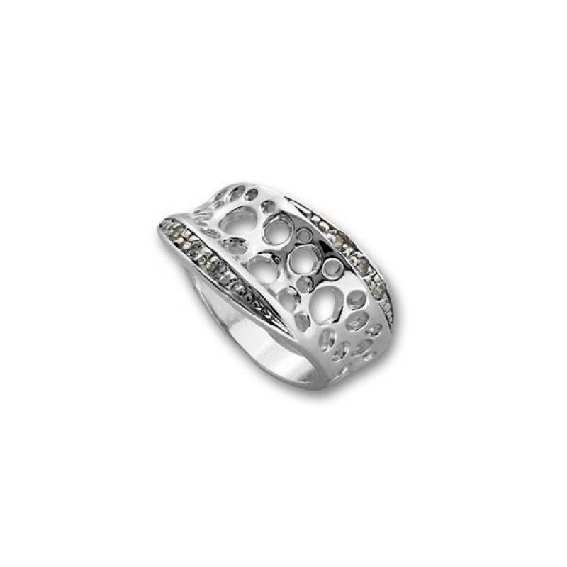 Muriel - Сребърен пръстен с Цирконий  1615233-Сребърни бижута