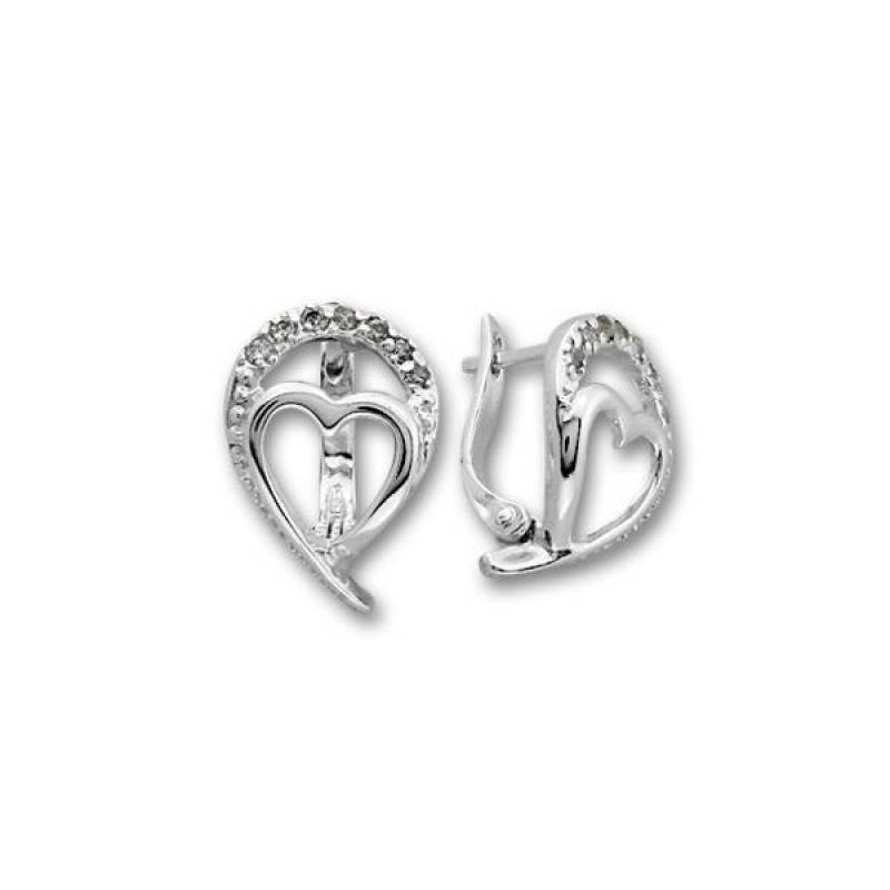 Сребърни обици с Камък 138951-Oбици