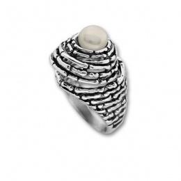 Сребърен пръстен с перла 1705904-Пръстени