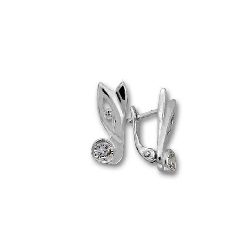 Сребърни обици с Камък 114271-Oбици
