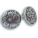 Сребърни обици без камък 131509-Oбици