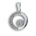 Сребърен медальон с Камък 176547-Медальони