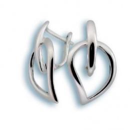 Сребърни обици без камък 133783-Oбици
