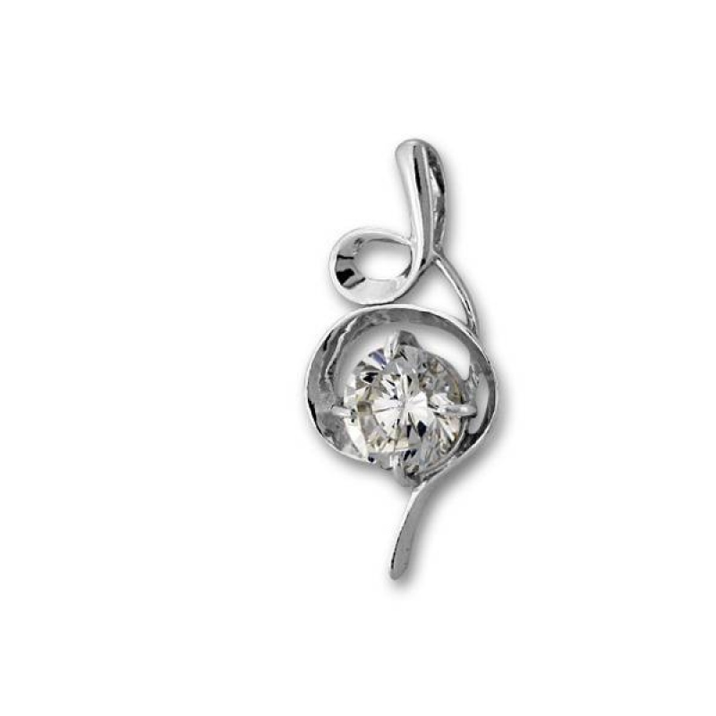 Сребърен медальон с Камък 184489-Медальони