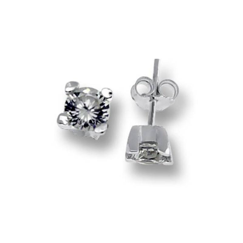 Сребърни обици с Камък 120233-Oбици