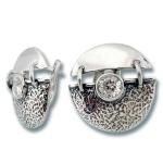 Сребърни обици с Камък 122830-Oбици