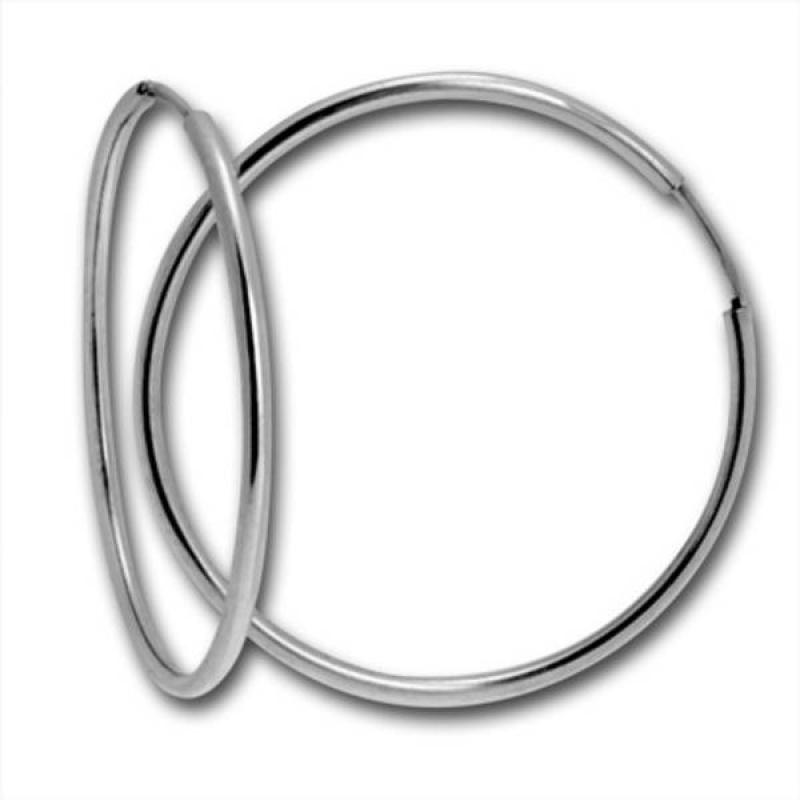 Klarin 2 - Сребърни обеци халки 112150-Сребърни бижута