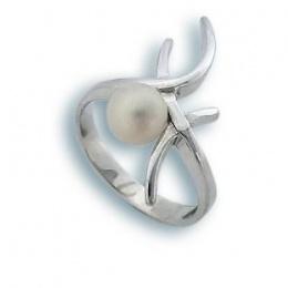 Сребрен пръстен с перла 1705744-Пръстени