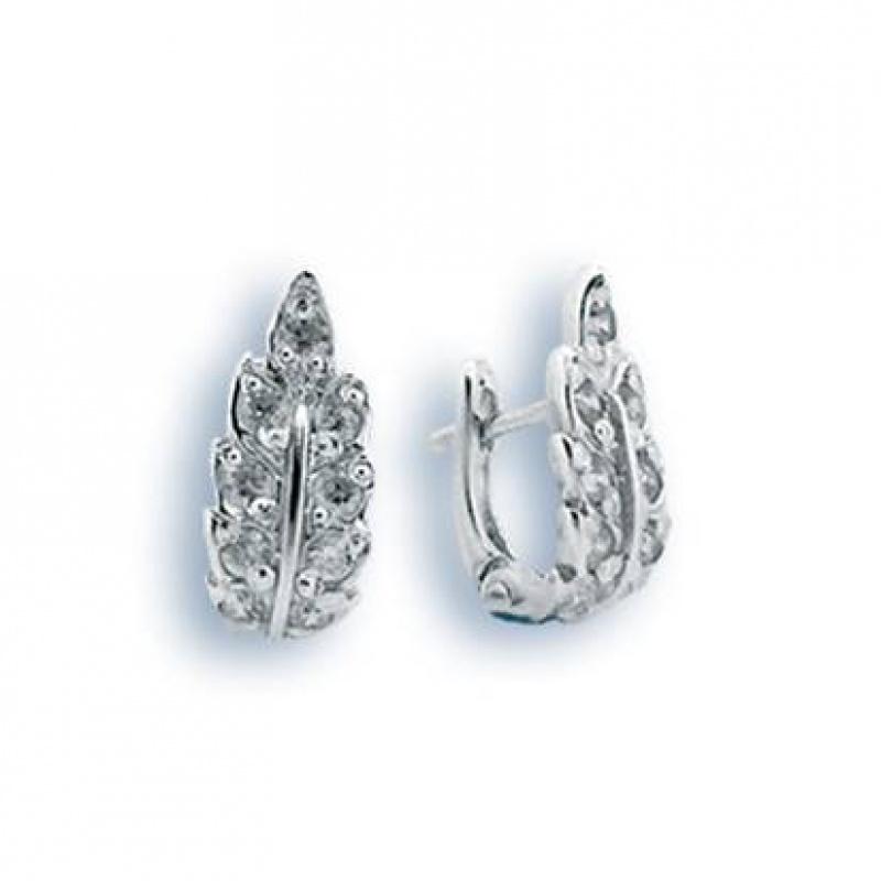 Сребърни обици с Камък 138177-Oбици