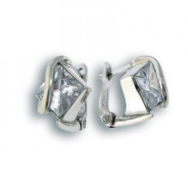 Сребърни обици с Камък 121043-Oбици