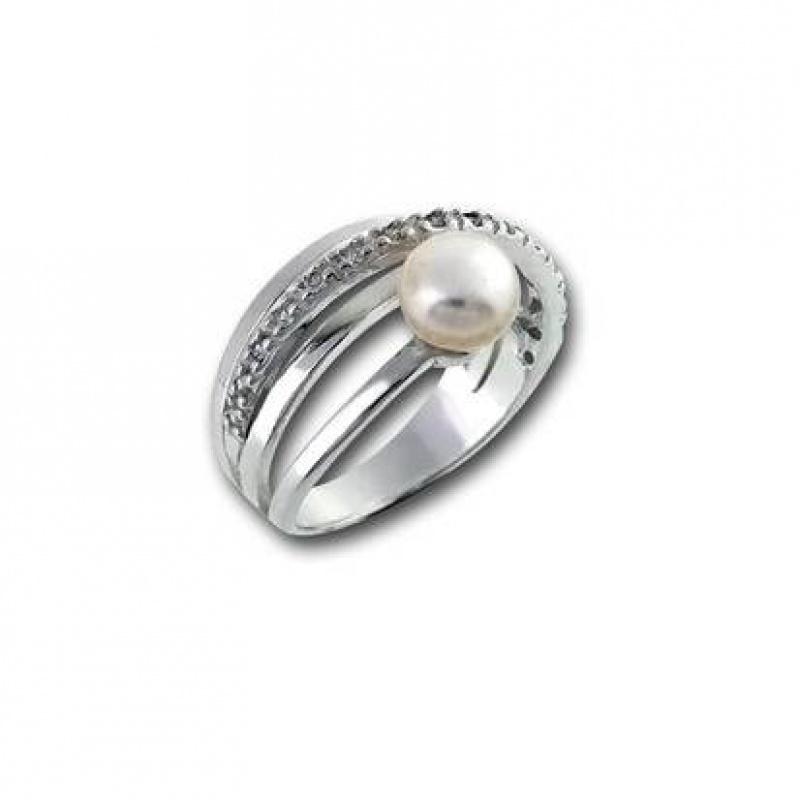 Сребрен пръстен с перла 1705811-Пръстени