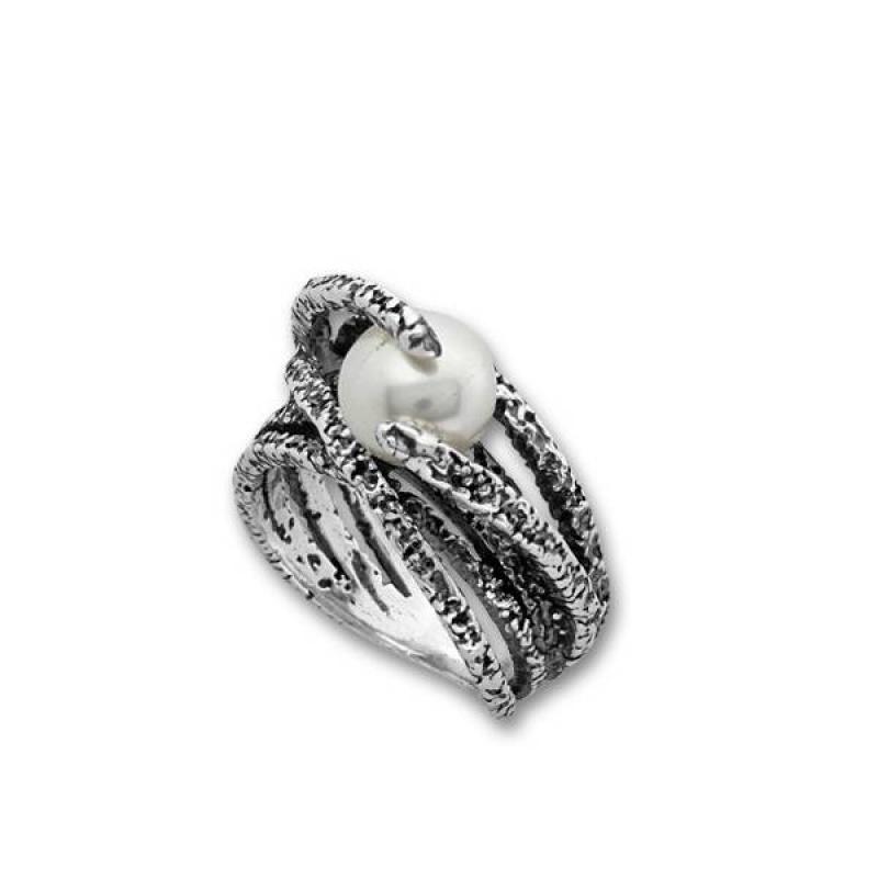 Сребърен пръстен с перла 1705949-Пръстени