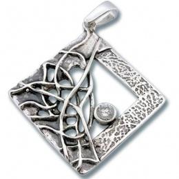 Сребърен медальон с Камък 193831-Медальони