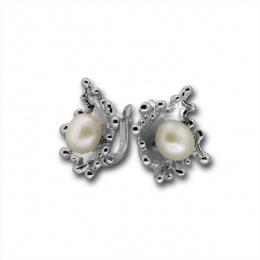 Сребрна обица с перла 115869-Oбици
