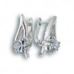 Сребърни обици с Камък 121192-Oбици