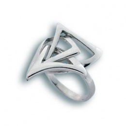 Сребърен пръстен без камък 1545670-Пръстени