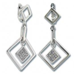 Сребърни обици с Камък 137841-Oбици