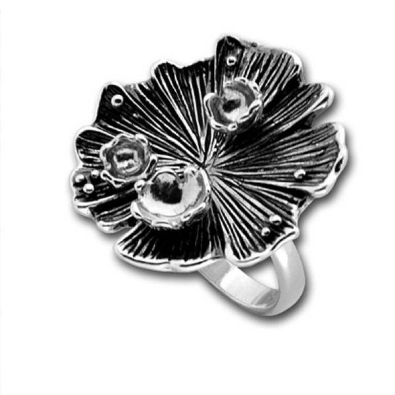 Сребърен пръстен без камък 1545873BL-Пръстени