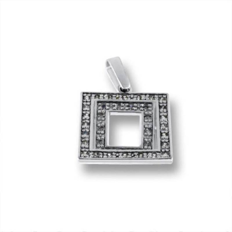 Сребърен медальон без Камък 173855-Медальони