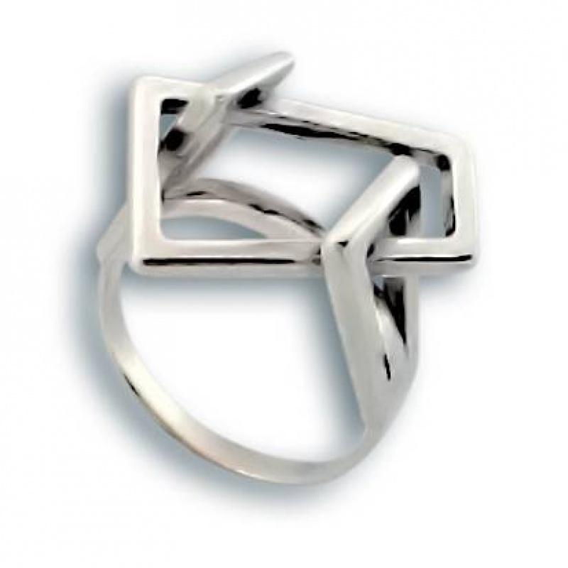 Сребърен пръстен без камък 1545786-Пръстени