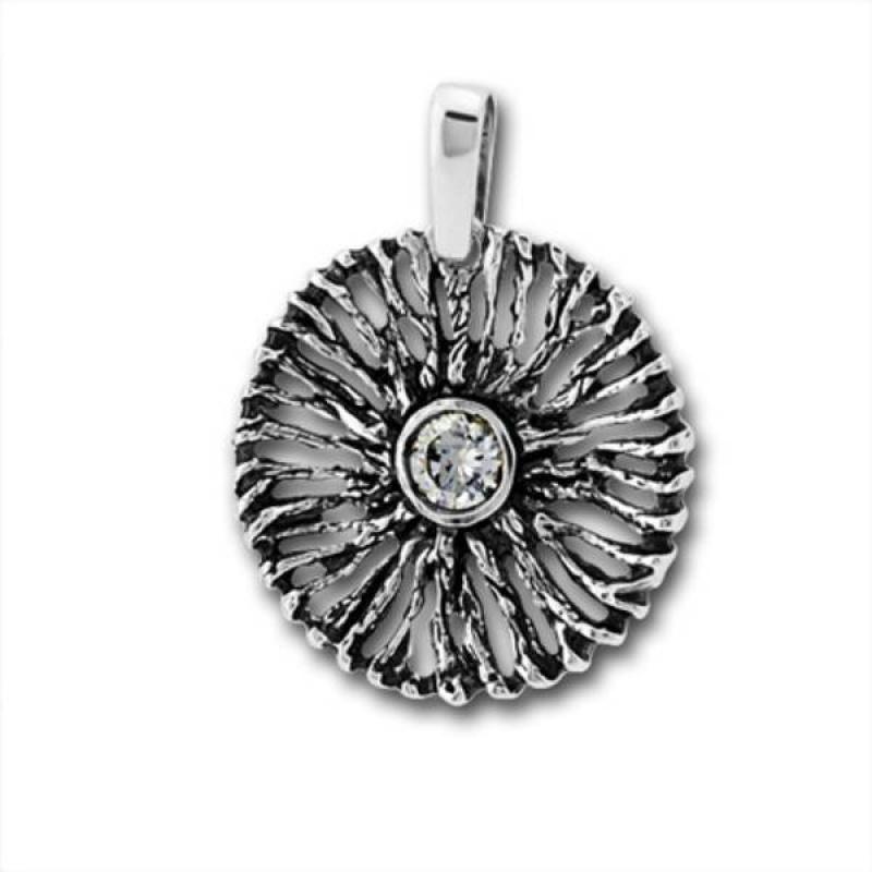 Сребърен медальон с Камък 182882-Медальони