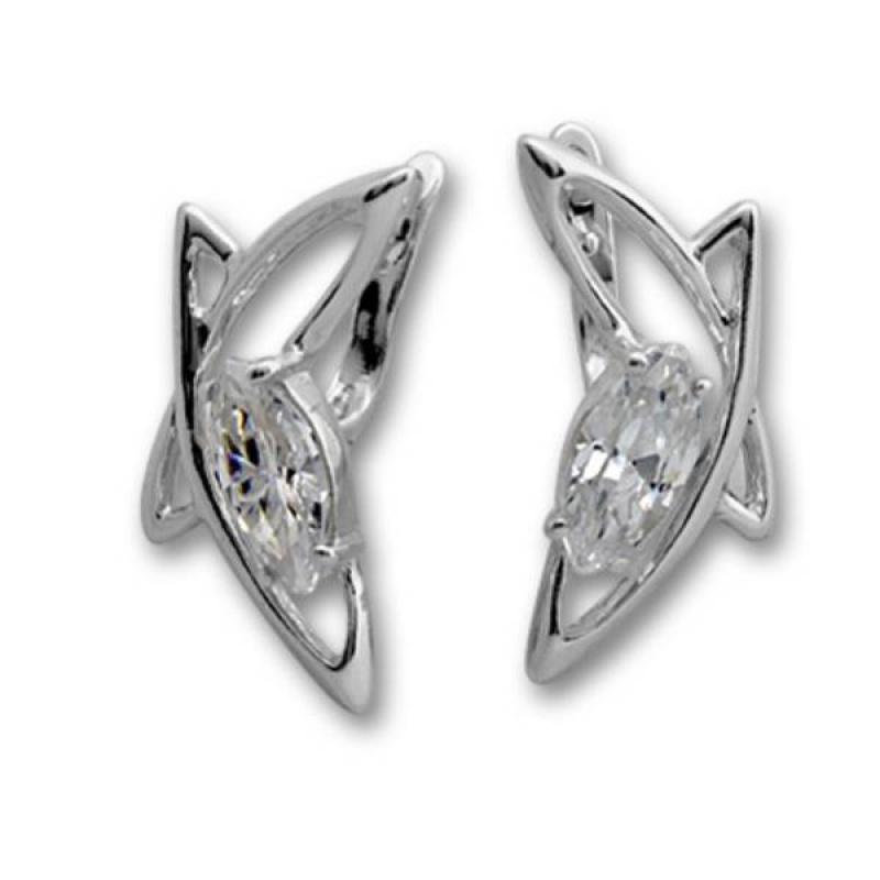 Сребърни обици с Камък 121895-Oбици