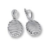 Сребърни обици без камък 136858-Oбици
