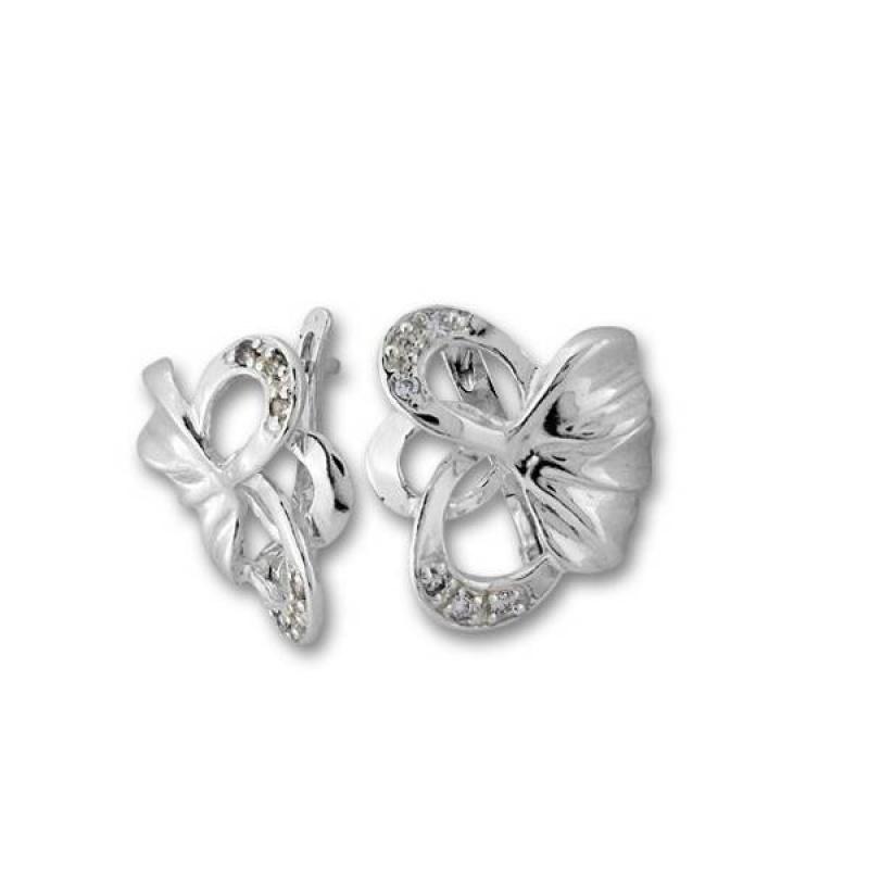 Сребърни обици с Камък 137934-Oбици