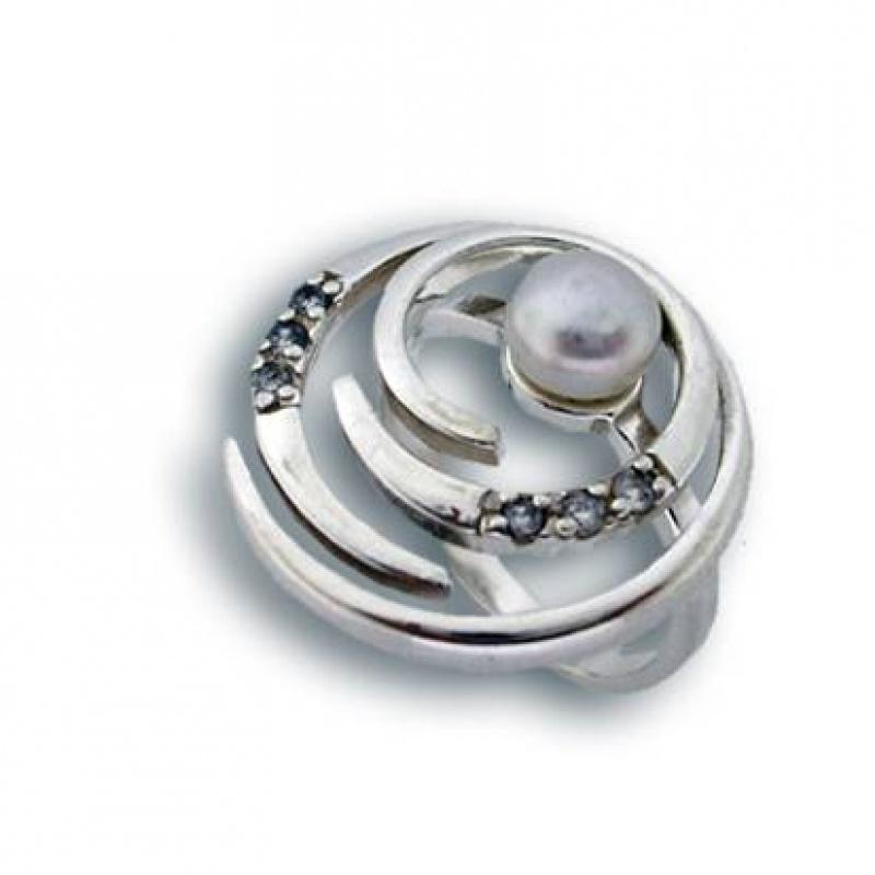 Сребрен пръстен с перла 1705628-Пръстени