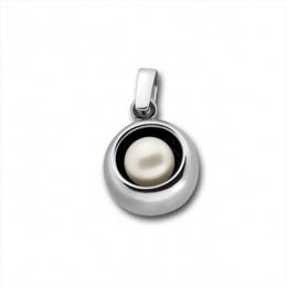 Сребърна висулка с перла 190868-Медальони
