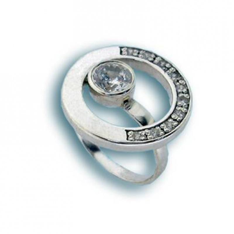 Сребърен пръстен с Камък 1615547-Пръстени