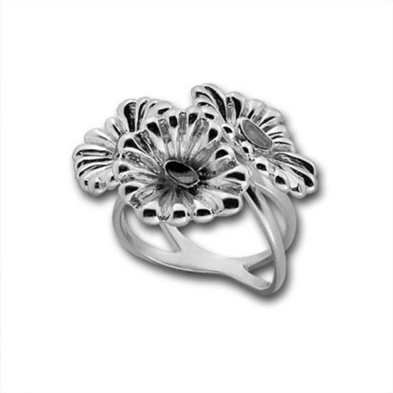 Сребърен пръстен без камък 1535890WH-Пръстени