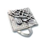 Сребърен пръстен с Камък 1595831-Пръстени