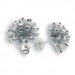 Сребърни обици без камък 131947-Oбици