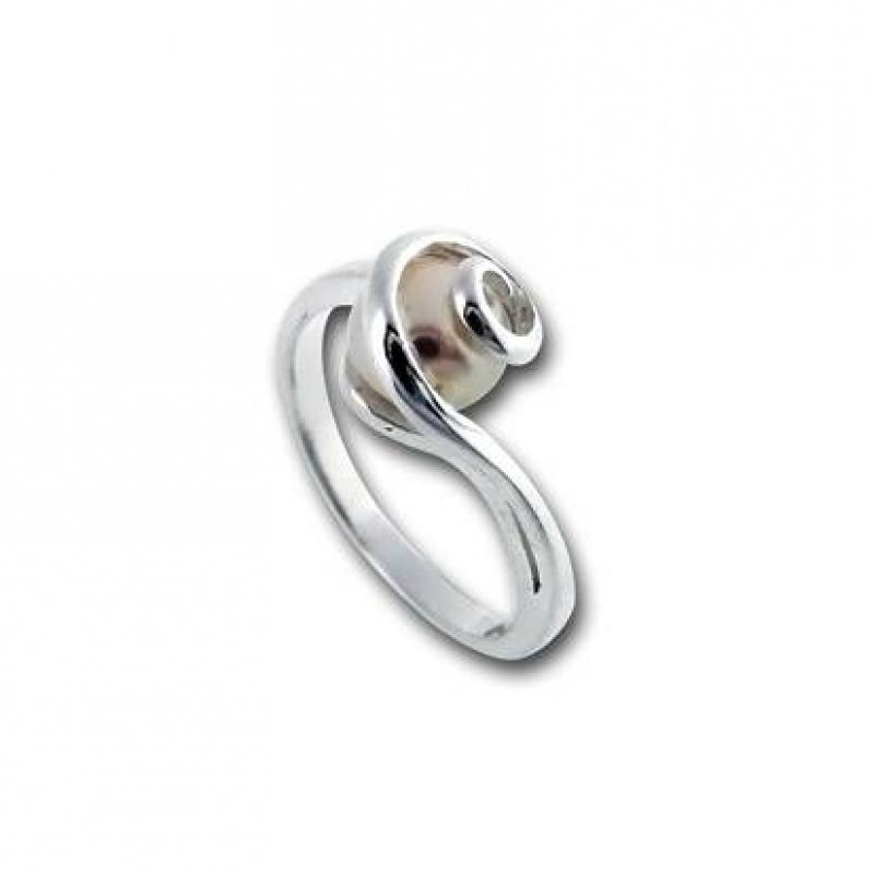 Сребрен пръстен с перла 1705812-Пръстени