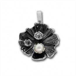 Сребърен медальон с перла 190872.1-Медальони