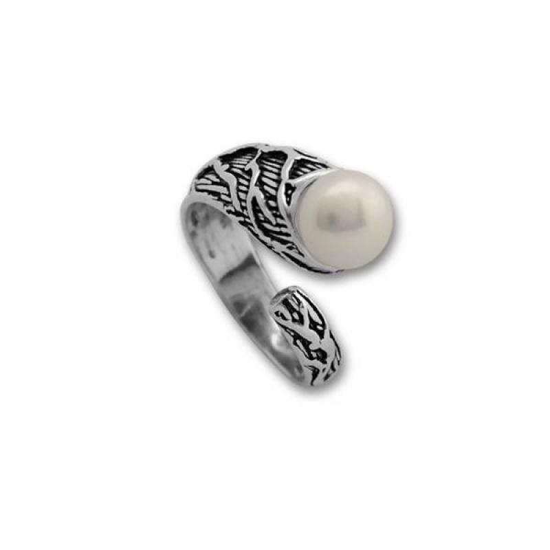 Сребрен пръстен с перла 1705218-Пръстени