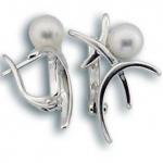 Сребрна обица с перла 115744-Oбици
