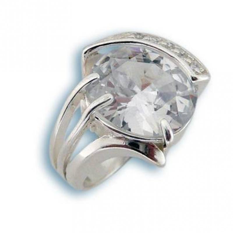 Сребърен пръстен с Камък 1585181-Пръстени