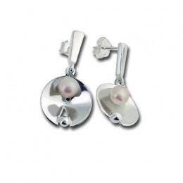 Сребрна обица с перла 115827-Oбици