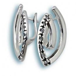 Сребърни обици с Камък 137363-Oбици