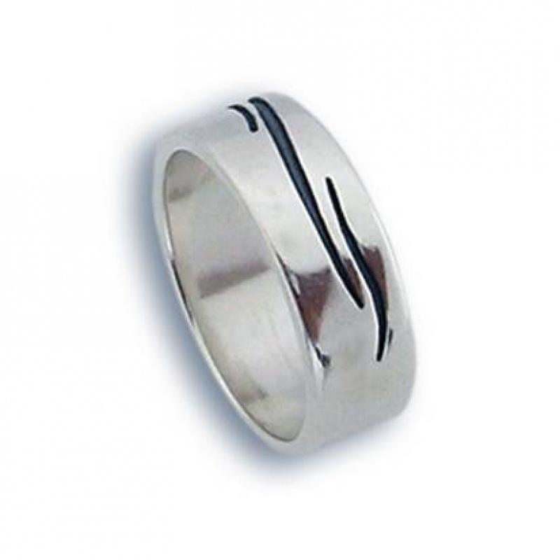 Lunsey - Сребърен пръстен халка без камък 1665745-Сребърни бижута