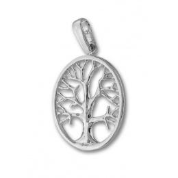 Lauressa 2 - Сребърна висулка без Камък Дървото на живота 181483-Сребърни бижута