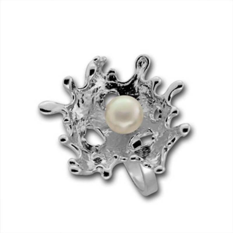 Сребърен пръстен с перла 1705869WH-Пръстени
