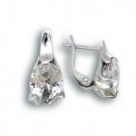 Сребърни обици с Камък 121340-Oбици
