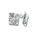 Сребърни обици без камък 136797-Oбици