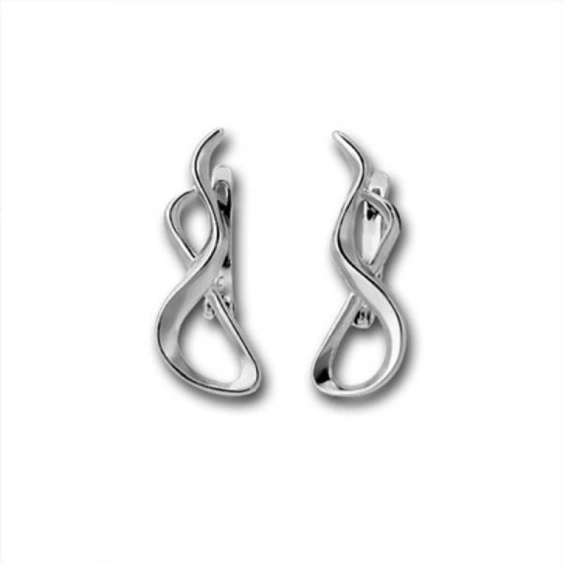 Сребърни обици без камък 133237-Oбици