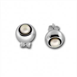 Сребърна обеца с перла 115868-Oбици
